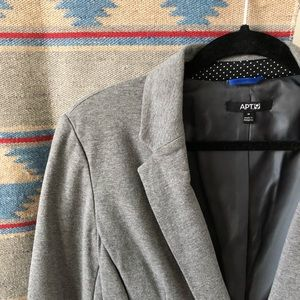 Apt. 9 Jackets & Coats - EUC | Apt. 9 Soft Exterior, Structured Gray Blazer